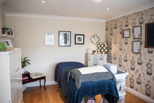 Comfortable, peaceful treatment room